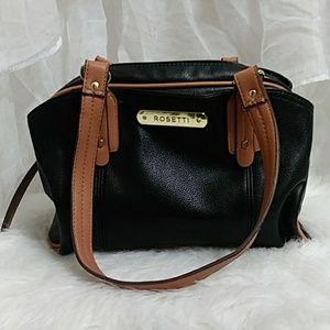 New ROSETTI Black & Tan Shoulder Bag